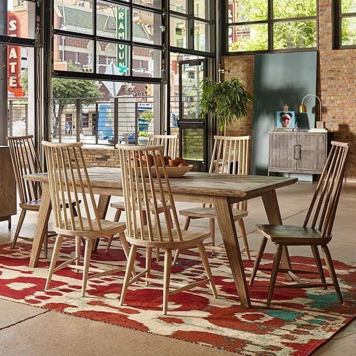 A.R.T. Furniture Inc Epicenters Austin7 Piece Rosedale Dining Table Set ...