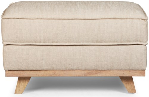 A.R.T. Furniture Inc Epicenters Austin Van Zandt Ottoman with Exposed Wood Frame