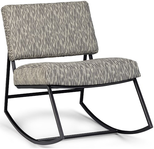 A.R.T. Furniture Inc Epicenters Austin Retro Style Franklin Rocking Chair with Metal Base