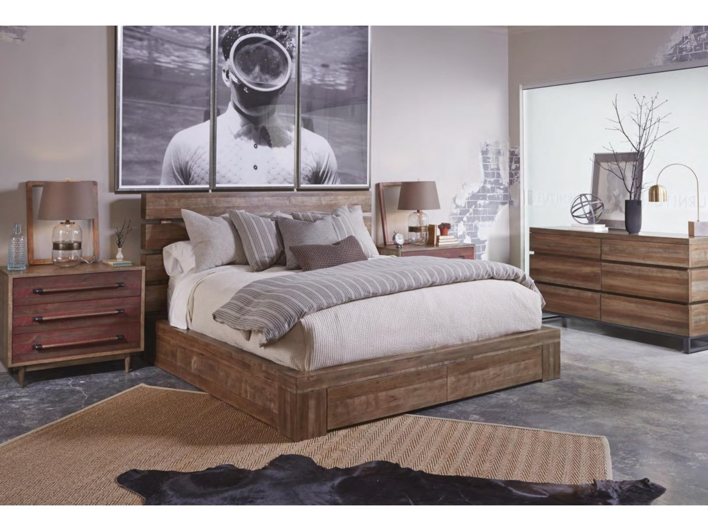 The Great Outdoors EpicentersKing Williamsburg Platform Storage Bed