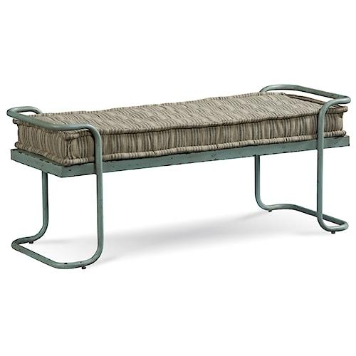 Belfort Signature Urban Treasures Rustic Metal Shaw Bed Bench with Cushion