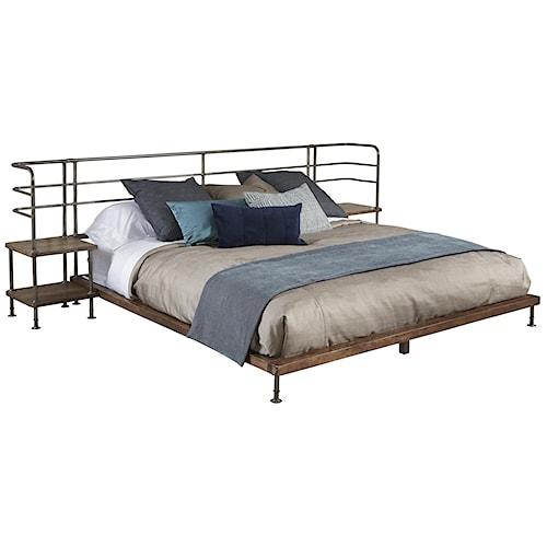 Belfort Signature Urban Treasures Queen Factory Platform Bed w/ 2 Nightstands