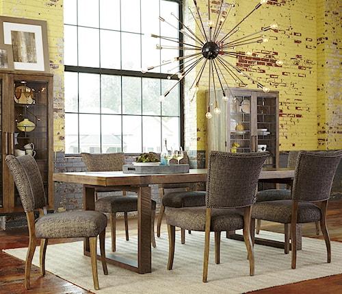 A.R.T. Furniture Inc Epicenters 7-Piece Williamsburg Rectangular Table Set