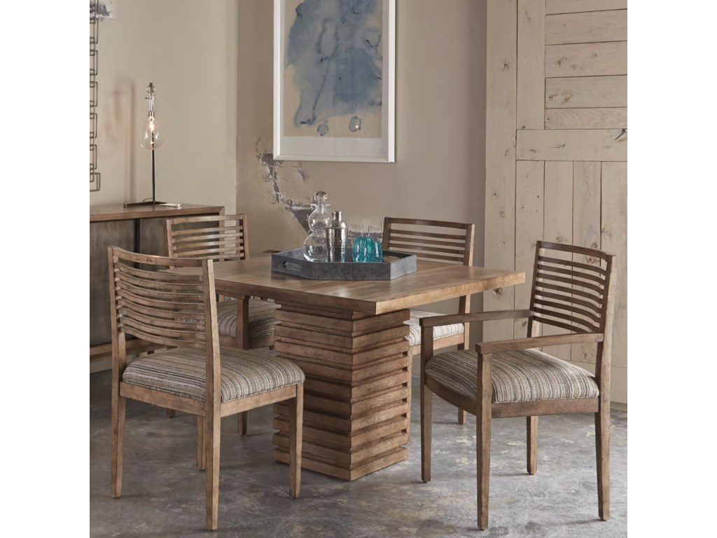 Belfort Signature Urban Treasures5-Piece Shaw Pedestal Dining Table Set