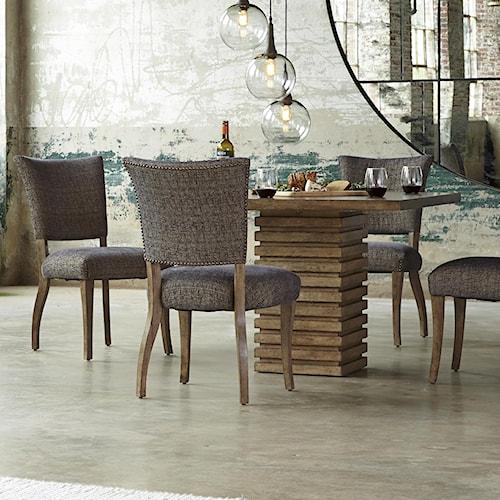 Belfort Signature Urban Treasures 5-Piece Shaw Pedestal Dining Table Set