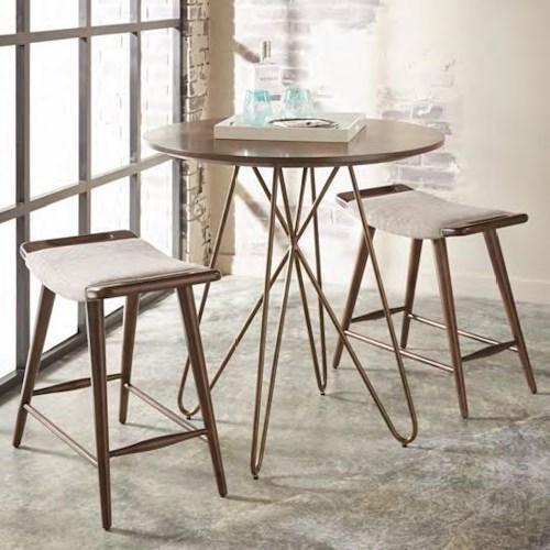Belfort Signature Urban Treasures 3-Piece 14th and U High Dining Set