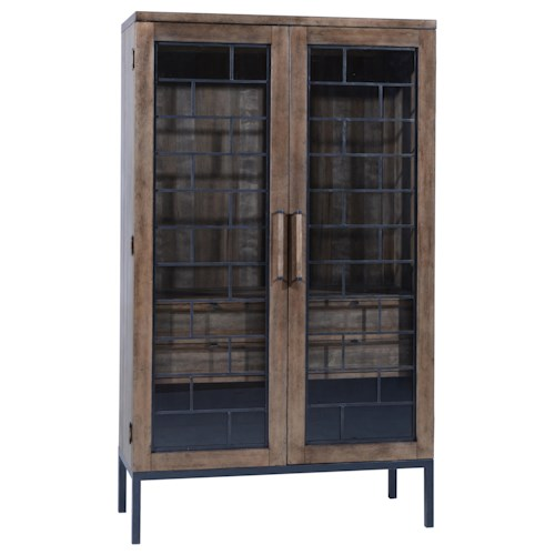 Belfort Signature Urban Treasures Wood and Metal Shaw Display Cabinet