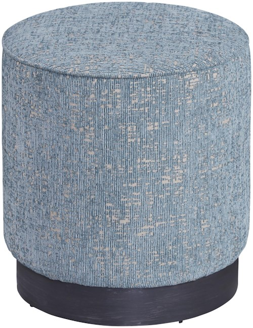 A.R.T. Furniture Inc Epicenters Round Silver Lake Upholstered Stool