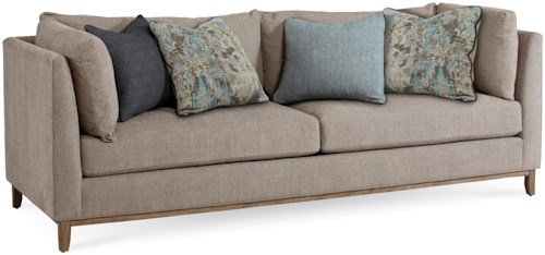 A.R.T. Furniture Inc Epicenters Contemporary Chaplin Sofa with Tuxedo Arms & Down Blend Seat Cushions