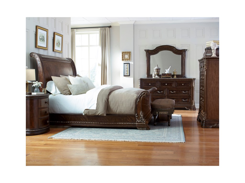 A.R.T. Furniture Inc GablesQueen Sleigh Bed