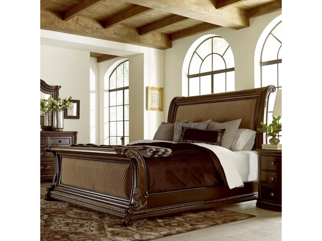A.R.T. Furniture Inc GablesCalifornia King Uph Sleigh Bed