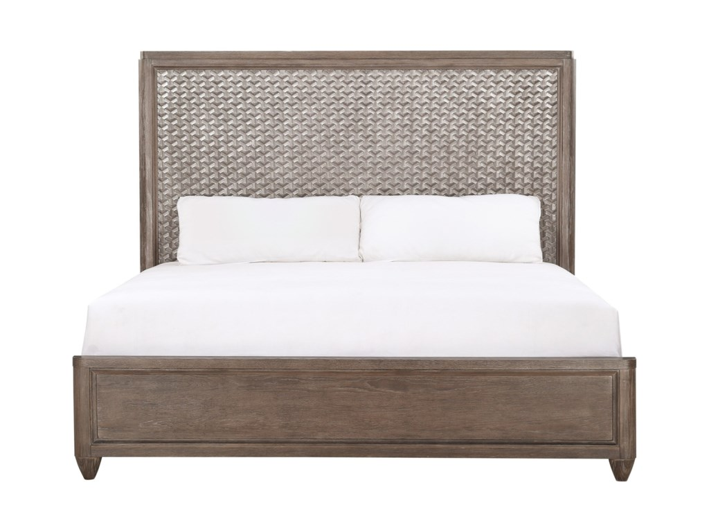 A.R.T. Furniture Inc GeodeQueen Celestite Panel Bed
