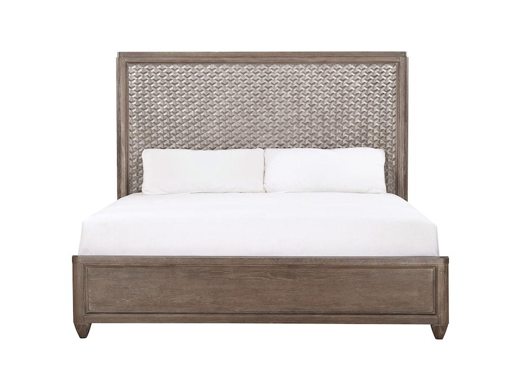 A.R.T. Furniture Inc GeodeQueen Celestite Panel Bed