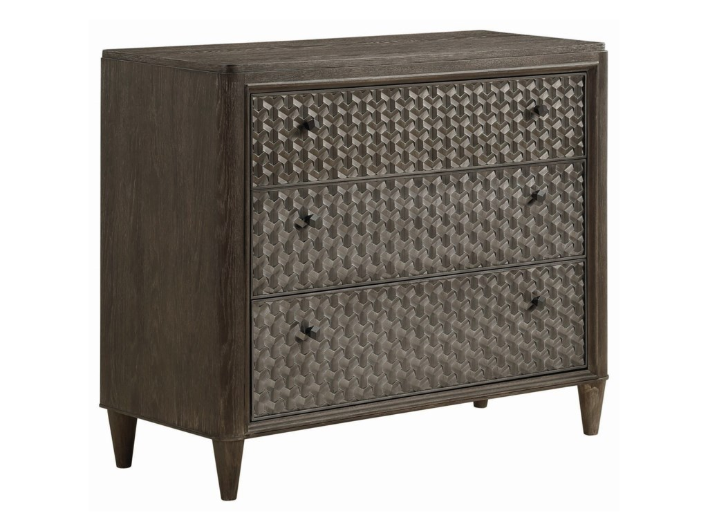 Compositions GeodeAgate Bedside Chest/Media Chest