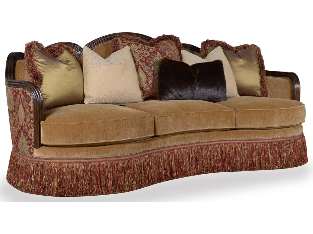 A R T Furniture Inc Giovanna Traditional Sofa With Down Blend Seat