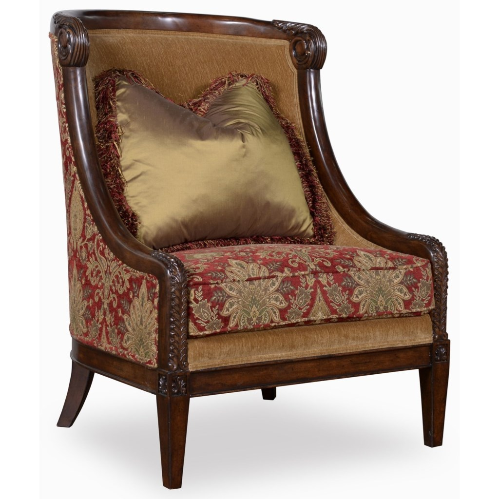 A r t furniture inc giovannacarved wood accent chair