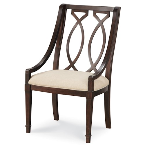 Belfort Signature Bolbrook Sling Back Dining Arm Chair with Marquise Splat