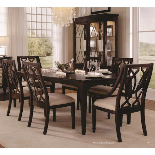 A r t furniture inc intrigue rectangular dining table for A r t dining room furniture