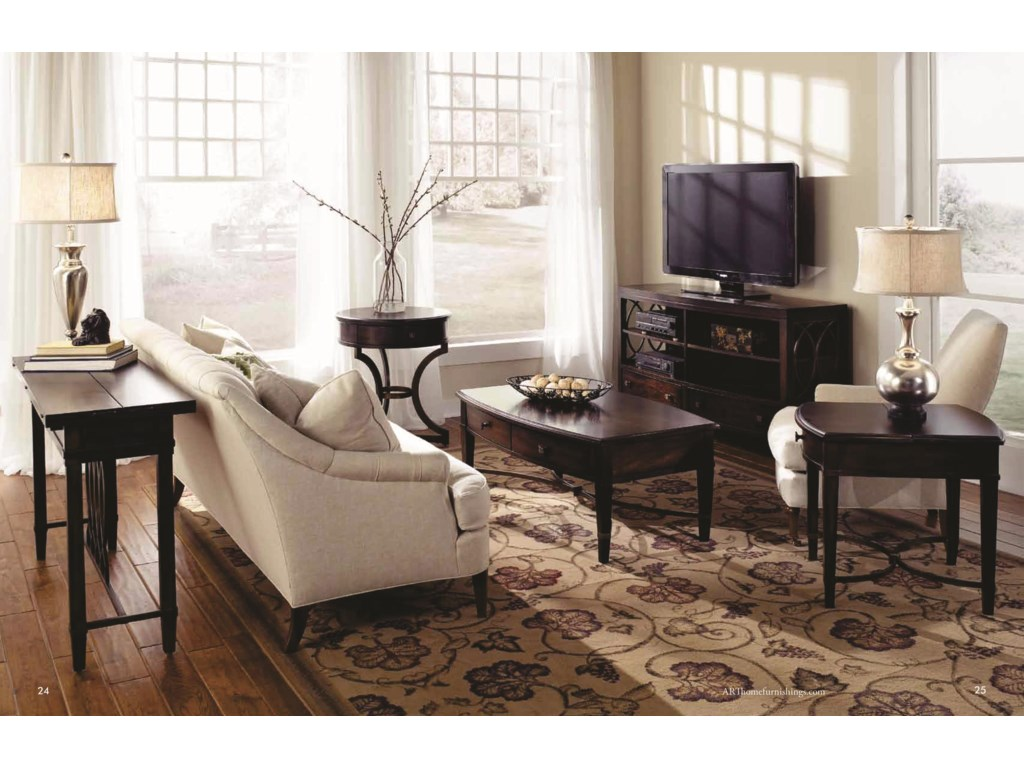 Shown with Flip Top Sofa Table, Rectangular Cocktail Table, Round End Table & Entertainment Console