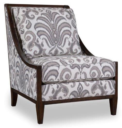 Markor Furniture Morgan Wood Frame Accent Chair With Swoop Arms