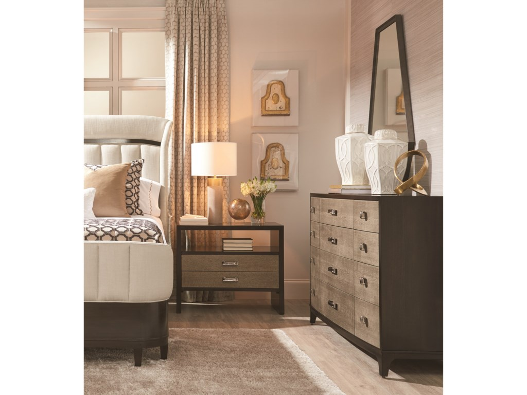 A.R.T. Furniture Inc Prossimo Queen Upholstered Shelter Bed