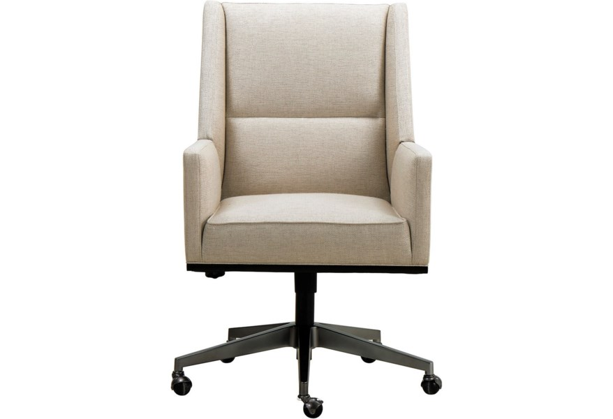 A R T Furniture Inc Prossimo Contemporary Upholstered Desk Chair With Casters Home Collections Furniture Executive Desk Chairs