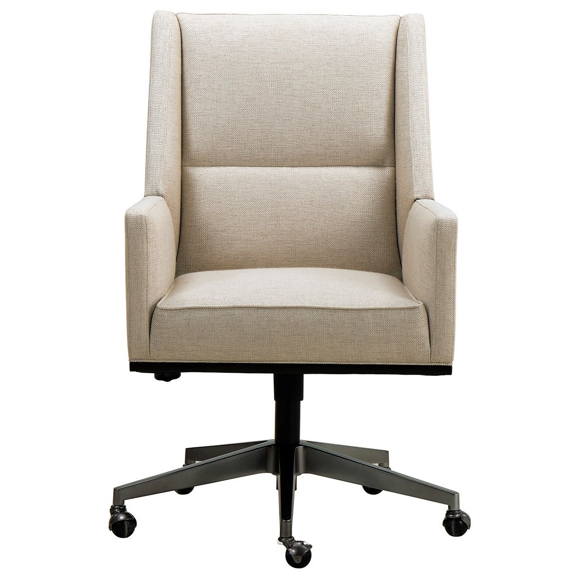 A.R.T. Furniture Inc Prossimo Contemporary Upholstered Desk Chair With  Casters | Boulevard Home Furnishings | Executive Desk Chairs