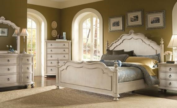 Shown with Coordinating Mirror, Five Drawer Chest, Panel Bed and Drawer Night Stand