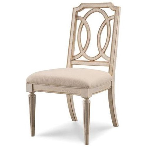 Belfort Signature Sonnet Upholstered Dining Table Side Chair with Curved Back