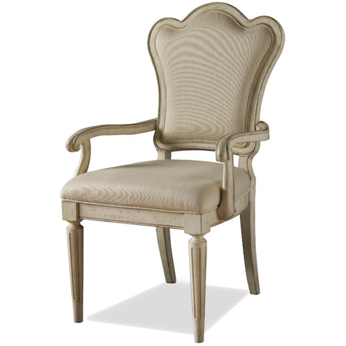 Belfort Signature Sonnet Upholstered Back Dining Arm Chair