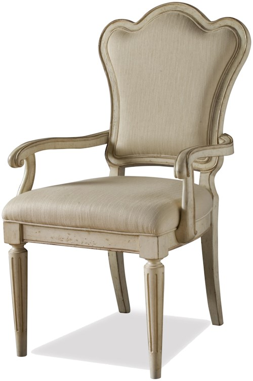 A.R.T. Furniture Inc Provenance Upholstered Back Dining Arm Chair