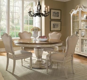 Shown with Upholstered Back Side Chair, Display Cabinet and Pedestal Table (Not Available)