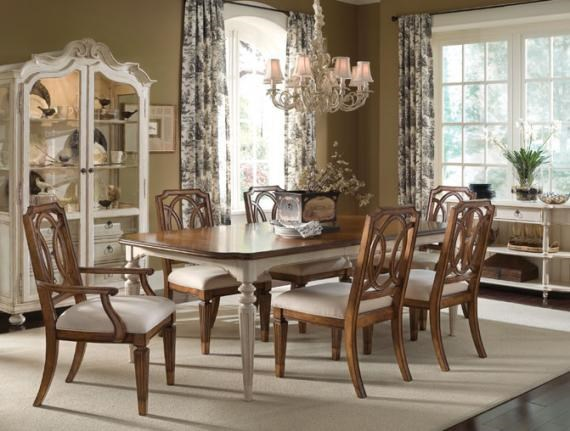 Shown with Rectangular Dining Table, Arm Chairs and Side Chairs