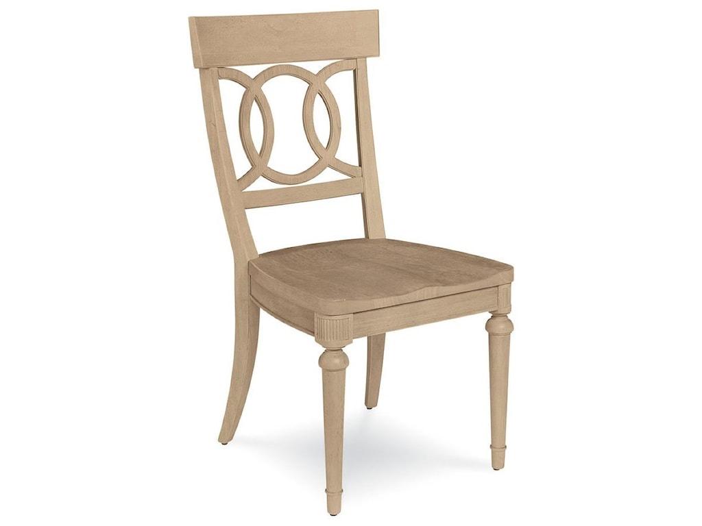 Belfort Signature ElizabethSophie Side Chair with Wood Seat
