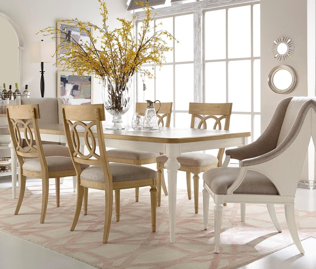 A R T Furniture Inc Roseline 7 Piece Lucy Dining Table Set