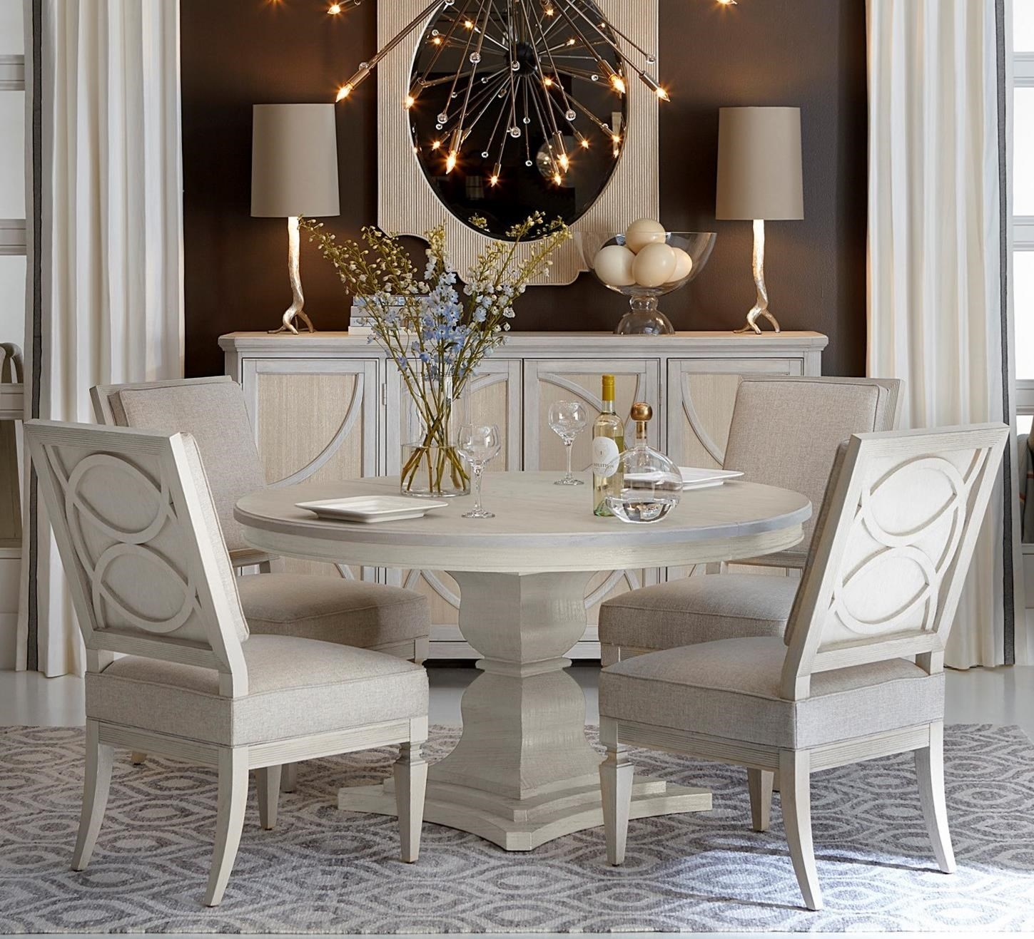 round kitchen table set. A.R.T. Furniture Inc Roseline5-Piece Enzo Round Dining Table Set Kitchen N