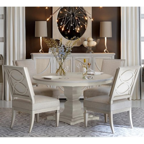 ART Furniture Inc Roseline 48Piece Enzo Round Dining Table Set Magnificent Art Dining Room Furniture