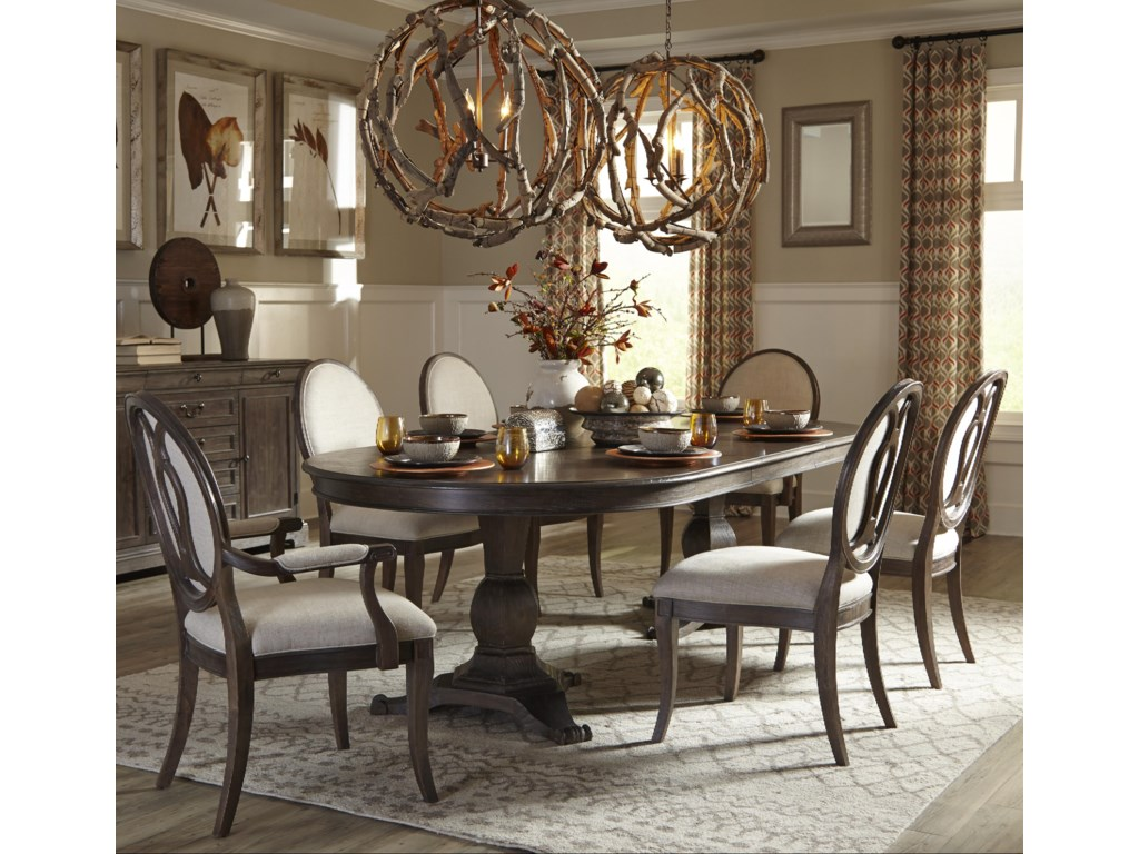 The Great Outdoors Saint Germain7-Piece Double Pedestal Dining Table Set