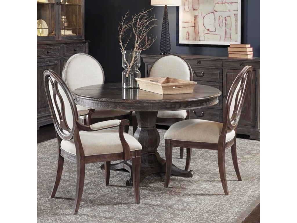 A r t furniture inc saint germain5 piece round dining table set