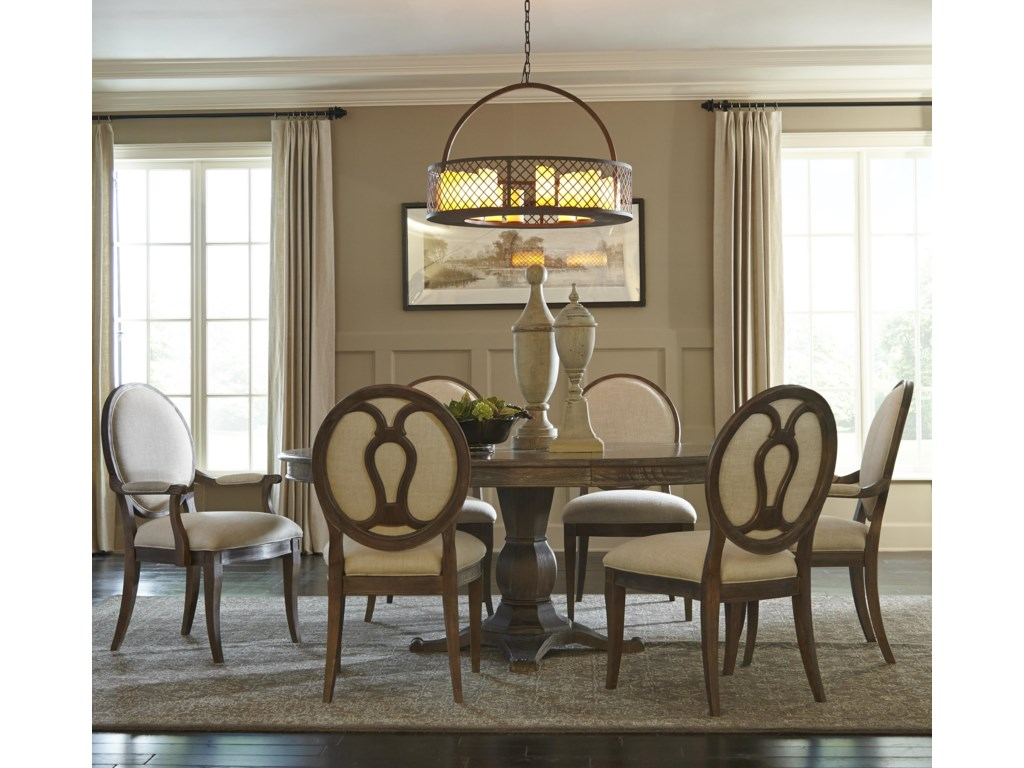 A R T Furniture Inc Saint Germain7 Piece Round Dining Table Set