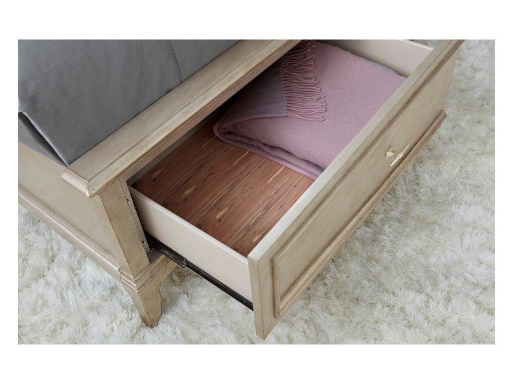A.R.T. Furniture Inc StarliteQueen Upholstered Panel Bed with Storage