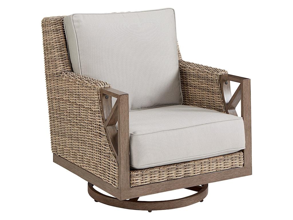 Markor Furniture Summer Creek Outdoor Swivel Rocker Club Chair