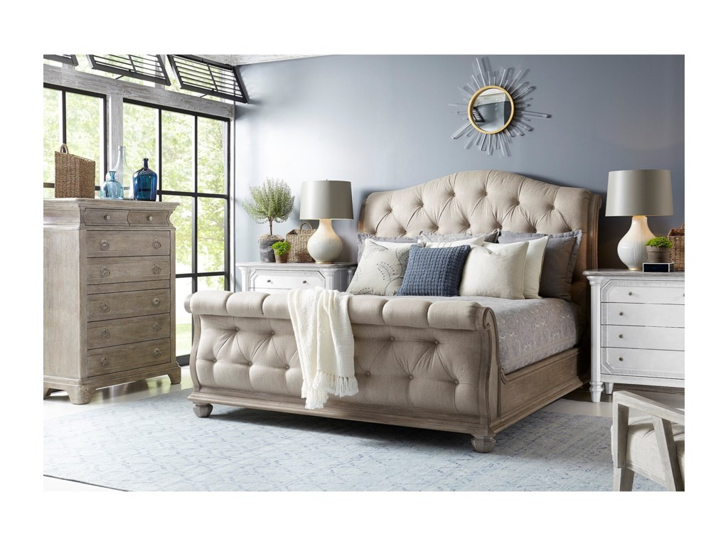 A.R.T. Furniture Inc Summer Creek Upholstered Queen Sleigh Bed