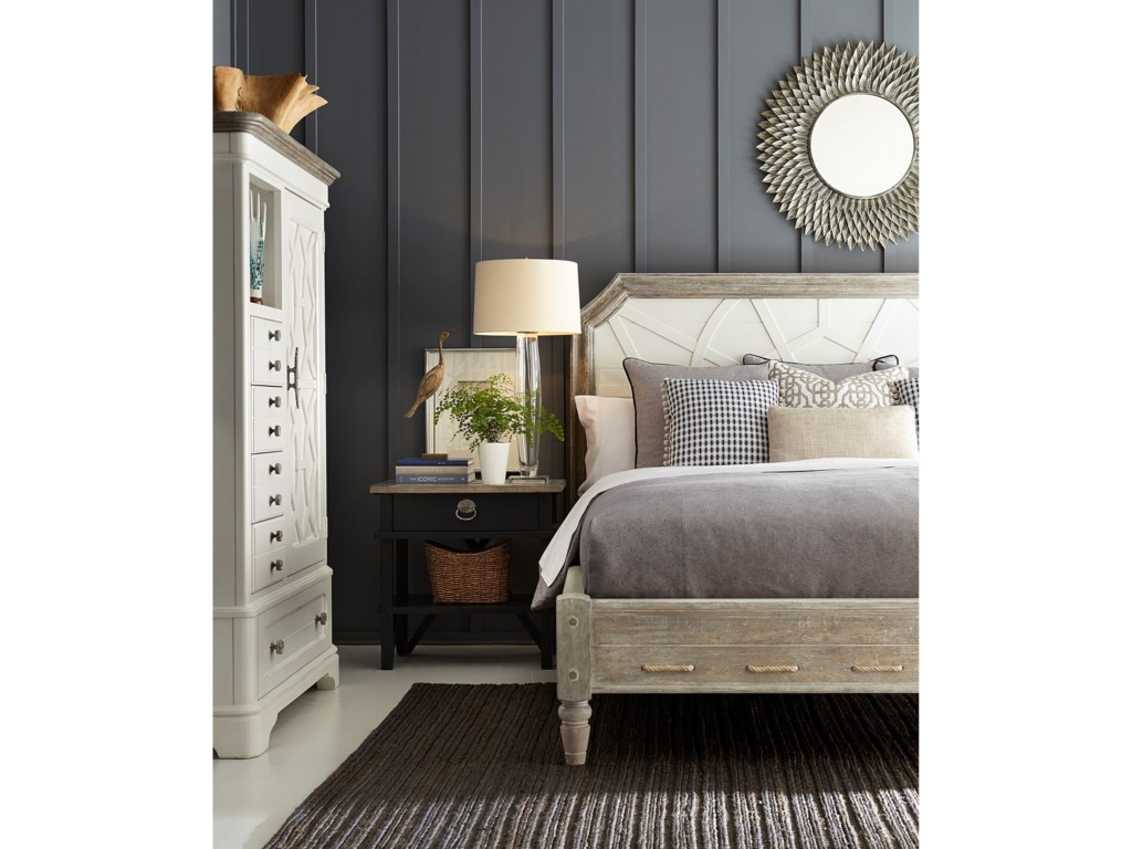 The Great Outdoors Summer Creek California King Upholstered Panel Bed