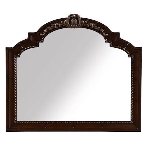 Belfort Signature Cortona Traditional Landscape Wall Mirror w/ Metal Detail