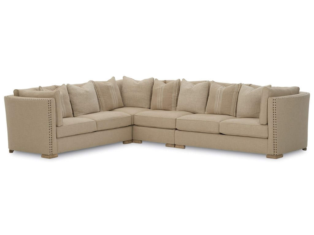 A.R.T. Furniture Inc Ventura Uph Transitional Sectional Sofa ...