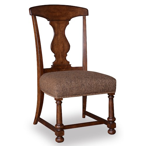 Belfort Signature Belvedere Splat-Back Side Chair with Cushioned Seat