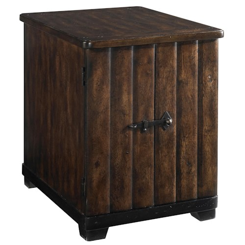 Belfort Signature Belvedere 2-Door Chairside Table with 1 Adjustable Shelf