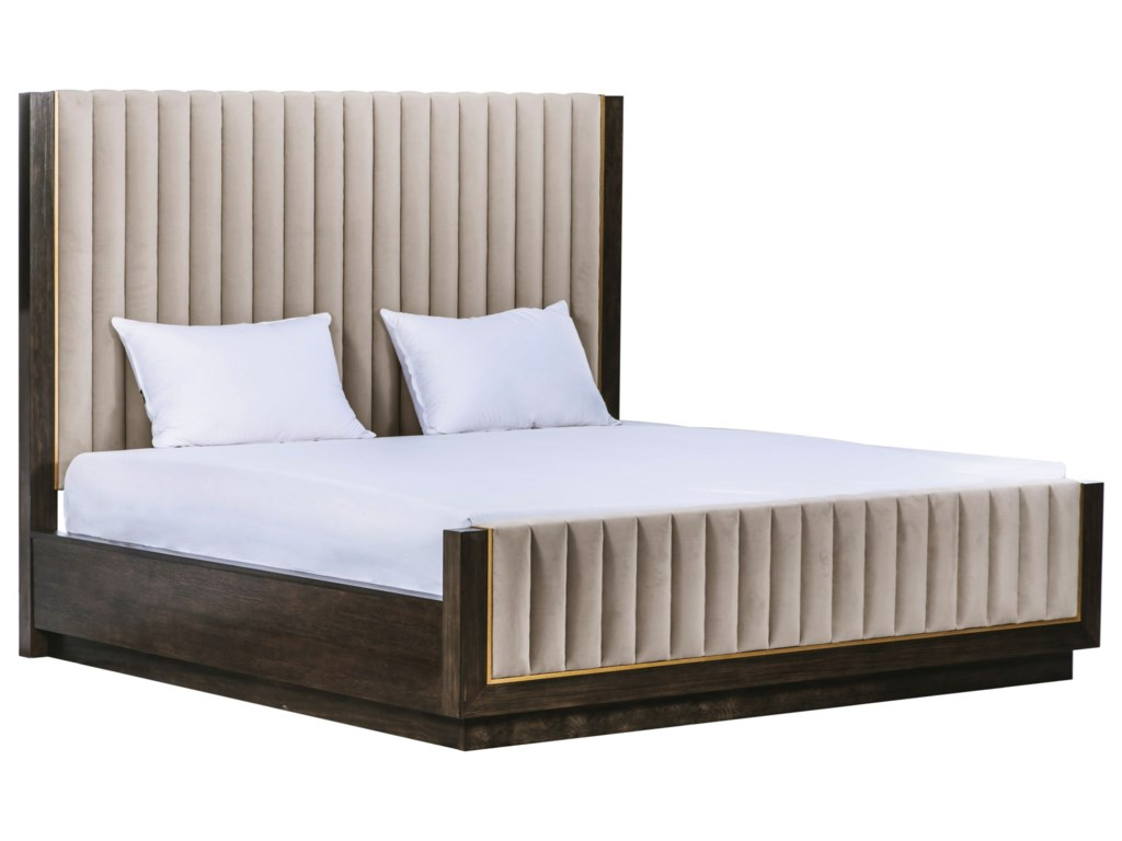 A.R.T. Furniture Inc WoodWrightQueen Mulholland Upholstered Bed