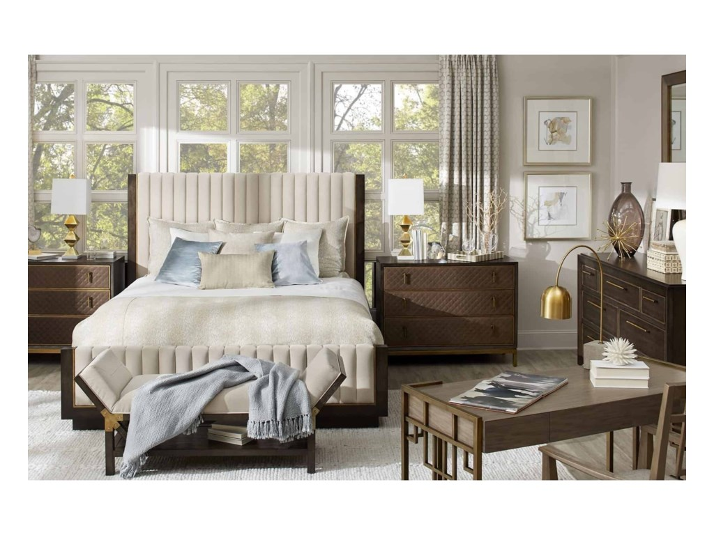 A.R.T. Furniture Inc WoodWrightKing Mulholland Upholstered Bed